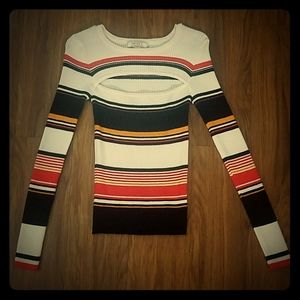 NWOT Striped Knit Top/Sweater
